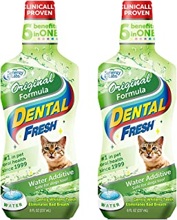 Dental Fresh Water Additive - Original Formula for Dogs - Clinicially Proven, Simply Add to Pet's Water Bowl to Whiten Tee...