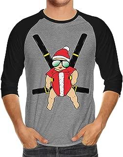Santa Baby Carrier Unisex 3/4 Raglan Shirt
