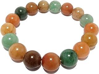 SatinCrystals Aventurine Medley Bracelet 10mm Boutique Round Green Orange Yellow Stretch Handmade Genuine Gemstones B01