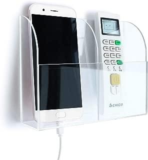 APSOONSELL 透明 壁掛け リモコンラック 収納ボックス アクリル リモコン スマートフォン 整理 ラック 小物入れ (2格)
