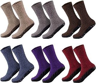 Sockenversandhandel, 1 par de calcetines para mujer, muy suaves, comodidad óptima, con suela de goma, ideal para casa, 35-38 o 39-42