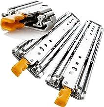 1 paar (2 stuks) Schwerlastauszüge - Volledig uittrekbare ladegeleiders - Industriële heavy-duty slide rail mit lock-in/ou...