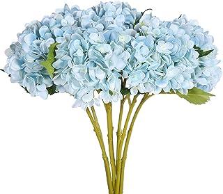 justoyou 4 flores artificiales, tallo individual, flores de