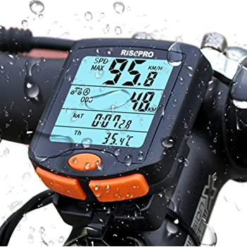 Suaoki Wireless LCD Bicycle Cycling Computer Speedometer Meter Time Odometer CO2