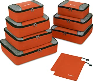 Gonex Rip-Stop Nylon Travel Organizers Packing Bags Orange
