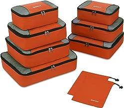 Gonex Rip-Stop Nylon Travel Organizers Packing Bags Orange