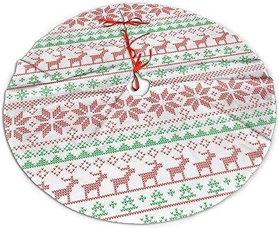 WU4FAAR - Falda de árbol de Navidad con diseño de Ciervo de Nieve ...