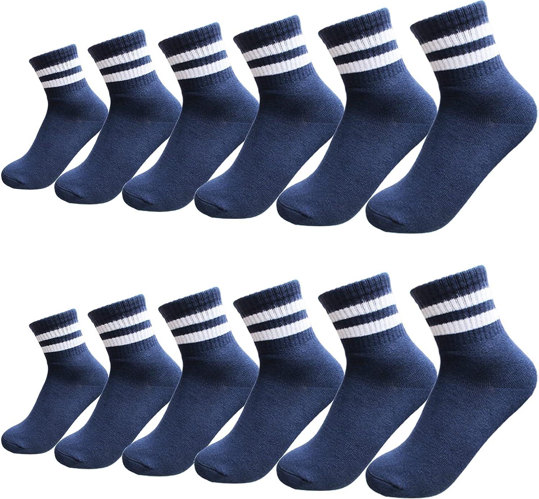 Boys Socks Cotton Ankle Socks 12 packs for Kids Girls Toddle