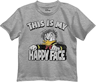 Disney Little Boys' Donald Duck This is My Happy Face Graphic Tee T-Shirt