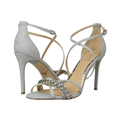 Jewel Badgley Mischka Gisele (Silver Glitter) High Heels