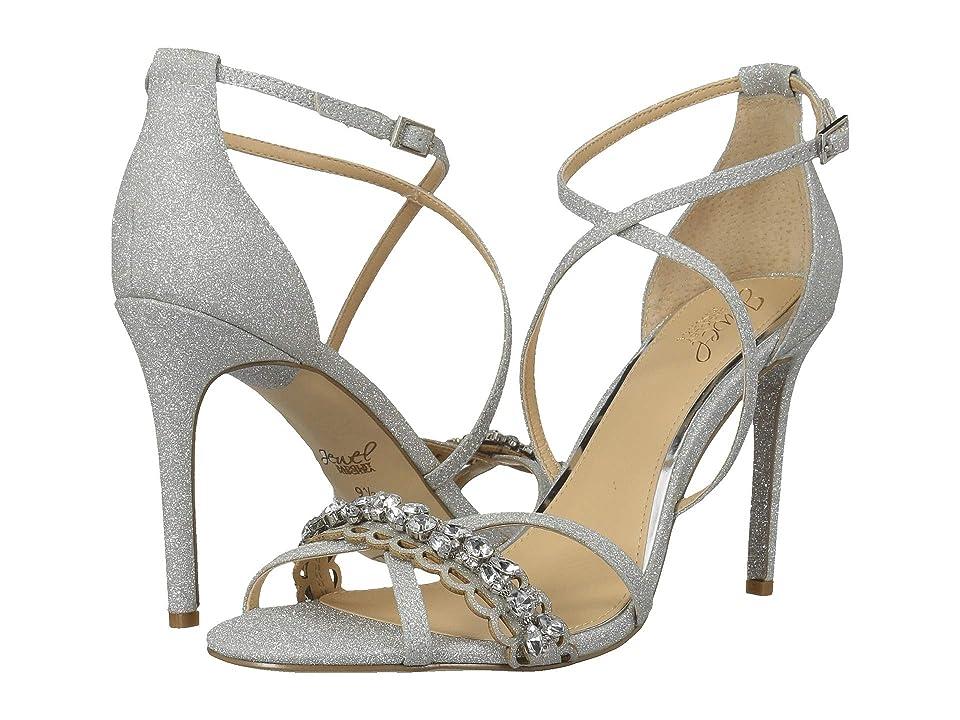 Jewel Badgley Mischka Gisele (Silver Glitter) High Heels