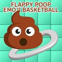 Flappy Poop Emoji Basketball - Dunk Poo Emoji Shot Into Toilet Hoops: Hit A Lot Sports Arcade