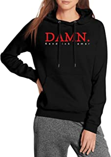 Kendrick-Lamar-Damn-Logo- Solid Color Lined Hoodies Hooded Sweaters