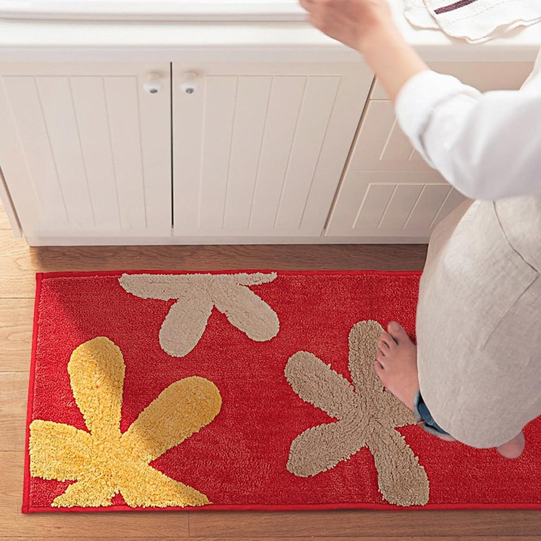 -Slide water-absorbing padded kitchen mat Bathroom mat  bedroom bed foot mat at the door-B 45x180cm(18x71inch)