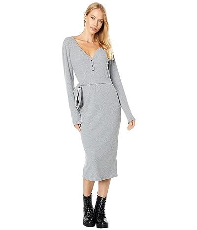 1.STATE Long Sleeve V-Neck Henley Dress