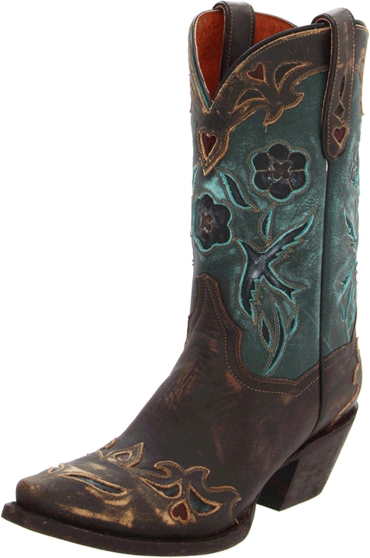 Dan Post Women's Blue Bird Wingtip Cowgirl Boot Snip Toe