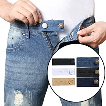 Pregnancy Pants Extender 12 Pack Jeans Pants Button Extender Set 6 Colors a Portable Adjustable Pants Waistband Expanders for Both Men and Women Updated in 2020 Elastic Waist Extenders