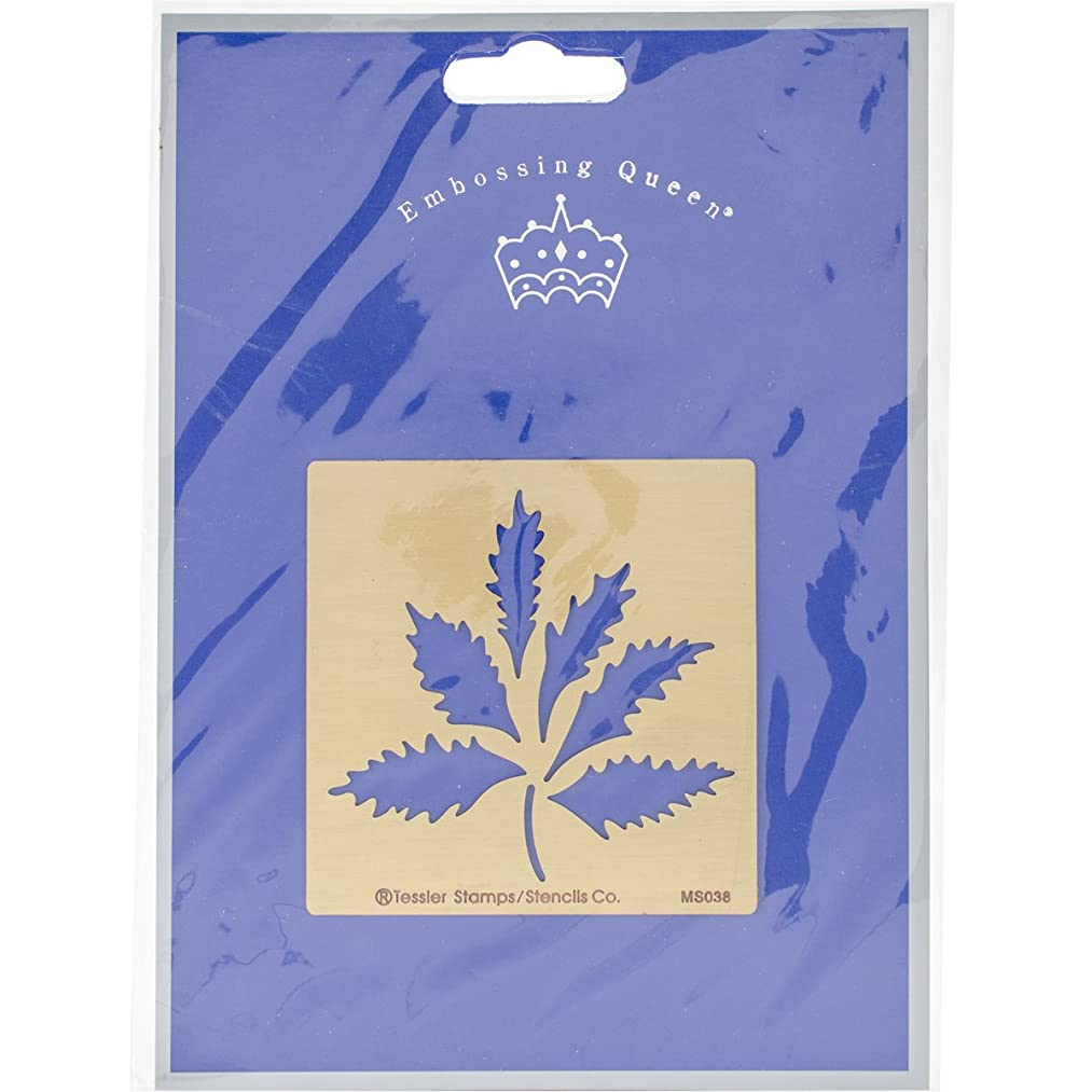 Embossing Queen Maple Leaves Brass Stencil, 3