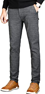 Men's Slim Fit Wrinkle-Free Casual Stretch Dress Pants,Fit Flat Front Trousers