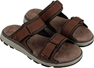 7456da69dbb5 CLARKS Un Trek Walk Mens Brown Nubuck Sport Sandals Strap Sandals Shoes