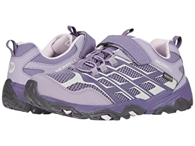 Merrell Kids Moab FST Low A/C Waterproof (Little Kid/Big Kid) (Cadet/Purple Ash) Girls Shoes
