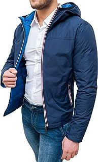 Evoga Giubbotto Piumino Uomo Invernale Casual Giacca Impermeabile con Zip