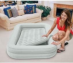 Intex Kidz Inflatable Raised Frame Camping Travel Air Mattress Bed w/Hand Pump (2 Pack)