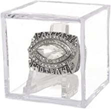 Legacy Rings Fantasy Football Championship Ring Silver Plated Award for League Winner 2017, 2018, 2019, with Display Case