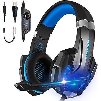 TXG Auriculares para Juegos, Auriculares con Cable, Auriculares para Jugadores,Auriculares para Juegos con Micrófono para PS4 Xbox One PC SwitchComputadora Portátil, Tableta, Celulares