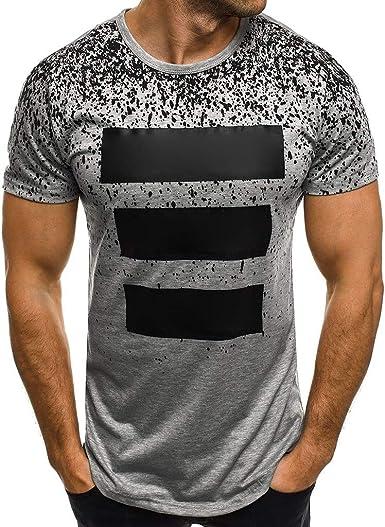 waotier Camiseta De Manga Corta para Hombre Camiseta con ...