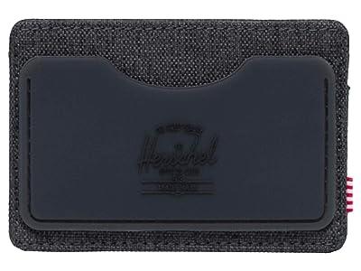 Herschel Supply Co. Charlie Rubber RFID (Black Crosshatch/Black) Wallet
