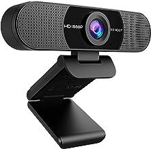 WEBカメラ eMeet C960 ウェブカメラ HD1080P 200万画素 90°広角 パソコンカメラ ワイドサイズ対応 内蔵マイク skype会議用PCカメラ Windows 10/8 / 7 Mac OS X, Youtube, Skype