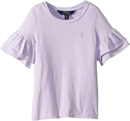 Ruffled-Sleeve Crew Neck T-Shirt (Toddler)