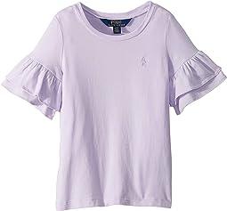 Ruffled-Sleeve Crew Neck T-Shirt (Toddler)