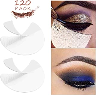 Eyeshadow Shields - 120 Pcs Eye Shadow Pads Stencils Makeup Under Eye Patches Disposable For Eyelash Extensions/Lip Makeup