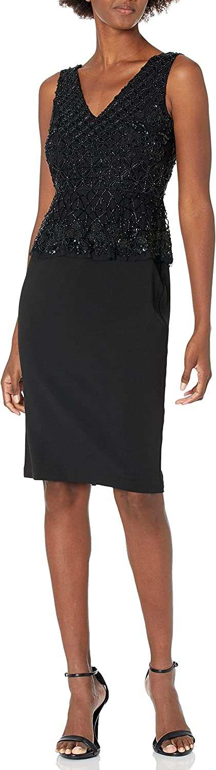 Adrianna Papell Women's Beaded Cocktail Dress