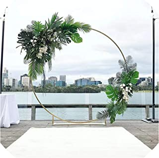 3Pcs Flower Balloon Metal Rack Circle Wedding Arch Background Wrought Iron Shelf Decorative Party Backdrops Metal DIY Props,White