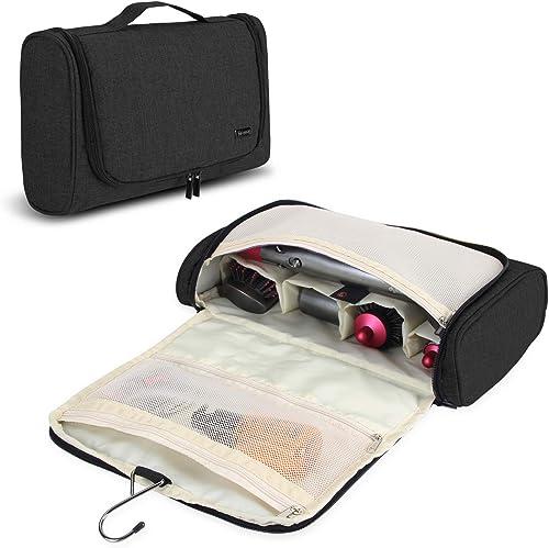 Teamoy Voyage Portable Sac de Rangement pour Dyson Airwrap Styler et Bigoudi Accessoires, Noir