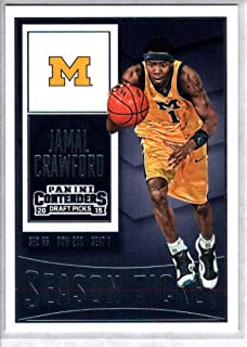 2015-16 Contenders Draft Picks Season Ticket Basketball #42 Jamal Crawford Michigan Wolverines Official NCAA Trading Card made by Panini