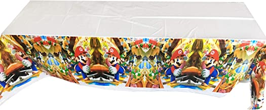 Super Mario Table Cover 70 x 42 Inch for Baby Shower Birthday Party Decoration Supplie