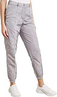 Plain Cargo Pants with Piped and Side Pocket Detail 10339514 For Women Closet by Styli