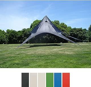 CLP Sternzelt für den Garten I Event-Zelt mit 10 Meter Durchmesser I Gartenzelt mit Einer überdachten Fläche von ca. 15 m² I erhältlich Schwarz