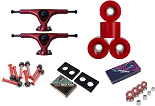 Paris V2 180mm Longboard Trucks Red (2 pcs) + 70mm Skateboard Wheels Combo