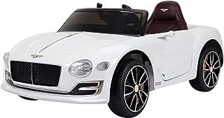 Homcom Véhicule électrique Enfants 2 Moteurs 108L x 60l x 43H cm télécommande Effets sonores + Lumineux Blanc Bentley