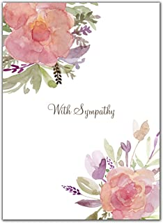 """Sweetzer & Orange Sympathy Cards with Envelopes Set €"""" 10 Cards €"""" Blank Condolence Card Pack for Funeral and Bereavement Greetings. Sorry for Your Loss and Thinking of You."""