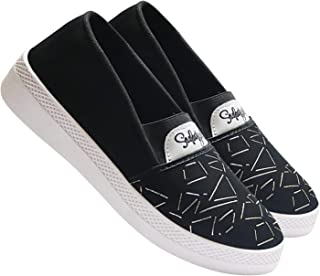 Shoefly-5028 Black Exclusive Range of Loafers Sneakers Shoes for Women