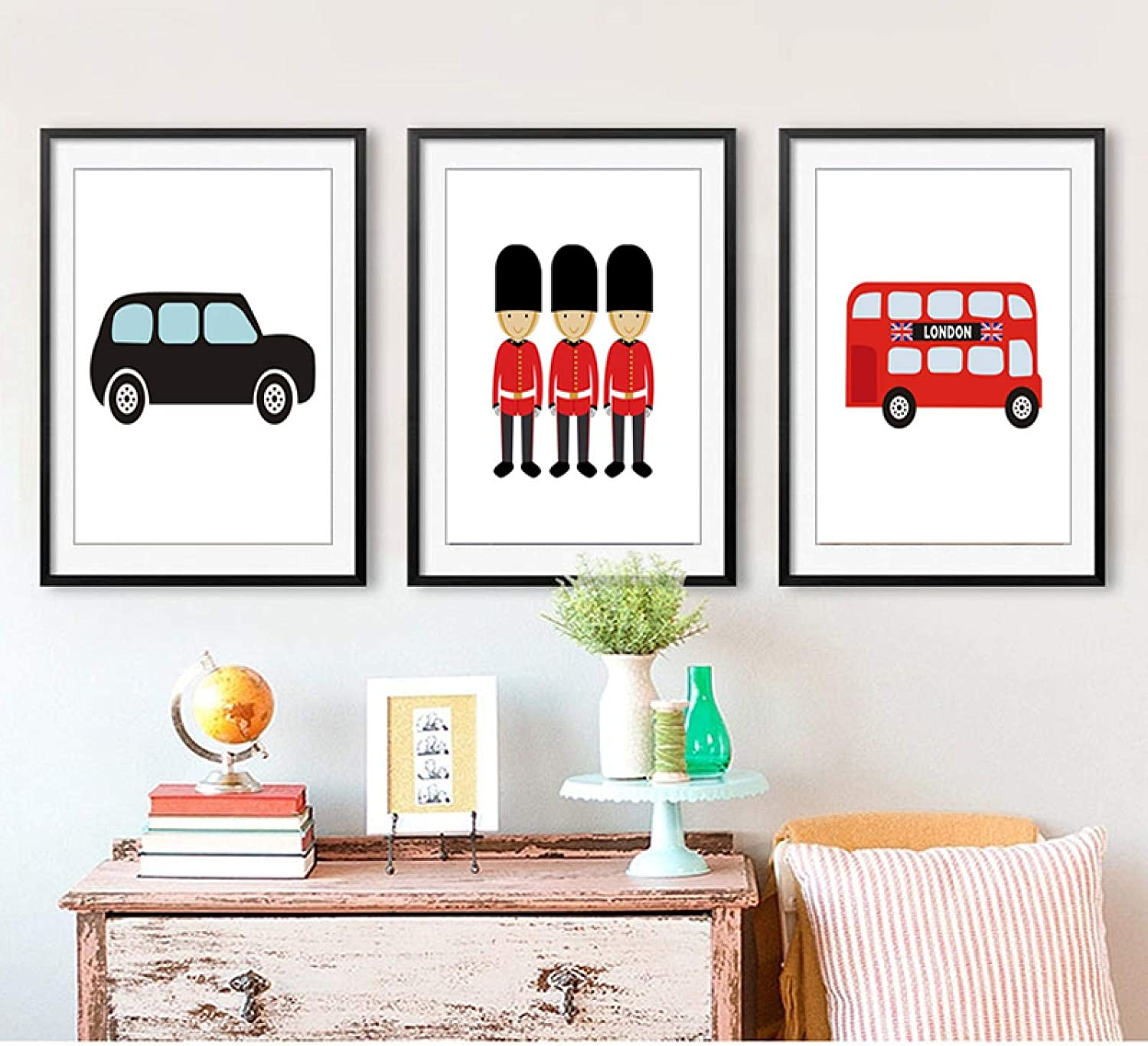 Print on Canvas Super special price London Bus At the price Painting Nursery Theme W Decor