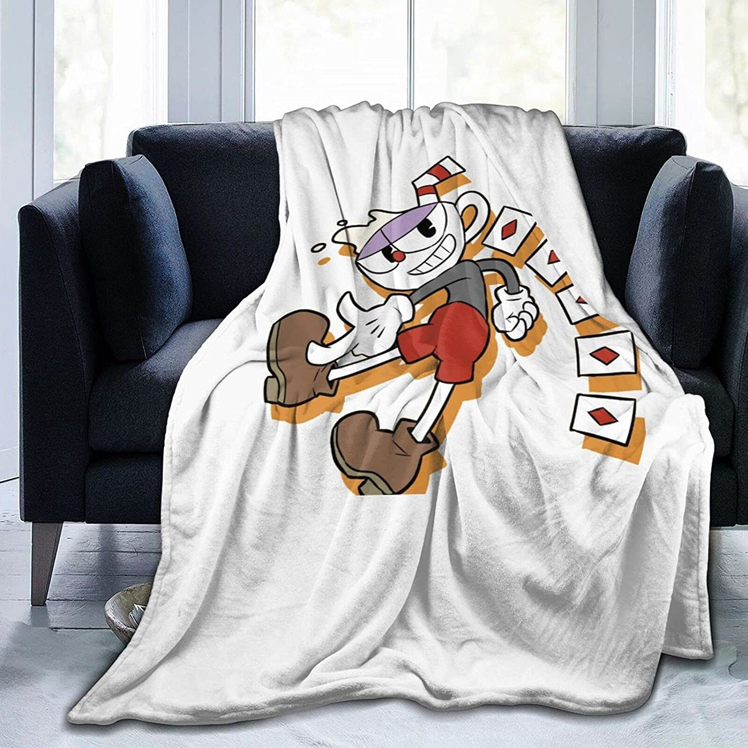 Cup-Head Blanket Set Kids Adult Directly managed store Max 56% OFF Anti-Pilli Comfy Quilt Warm Soft