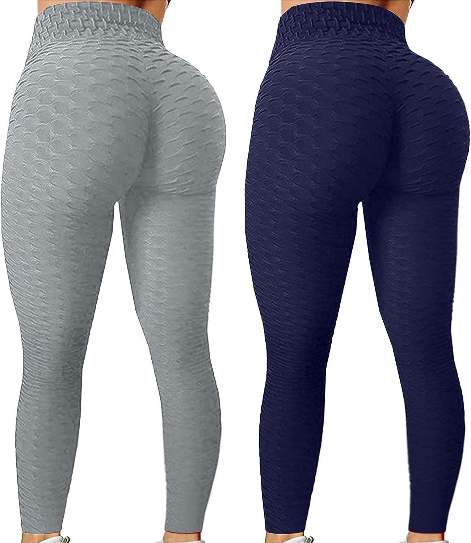 Smooto 2PCS TiKTok Leggings for Women Stretch Fitness Running Sports Pants