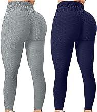 HWTMKJ TIK Tok Leggings voor Vrouwen, 2 STKS Scrunch Butt Lift Yoga Broek Honingraat Anti Cellulite Wafel Panty voor Worko...